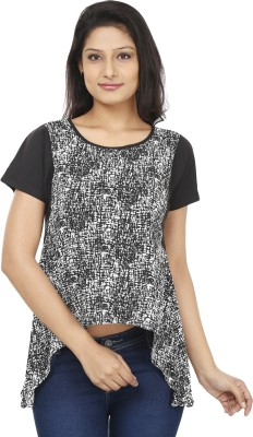 Today Fashion Casual Short Sleeve Printed Women's Black, White Top
