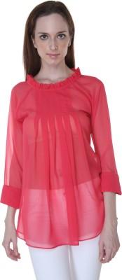 Rigoglioso Formal Full Sleeve Solid Women's Red Top