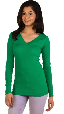 Modo Vivendi Casual Full Sleeve Solid Women's Green Top