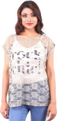 Clo Clu Casual Short Sleeve Woven Women,s Black Top