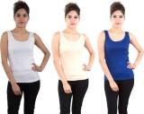 Piftif Casual Sleeveless Solid Women's M...