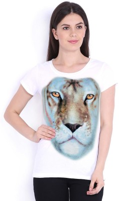 Stylemyway Casual Short Sleeve Printed Women's White Top