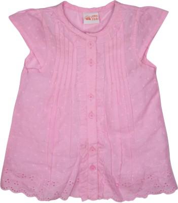 FS Mini Klub Casual Cap sleeve Printed Girl's Pink Top