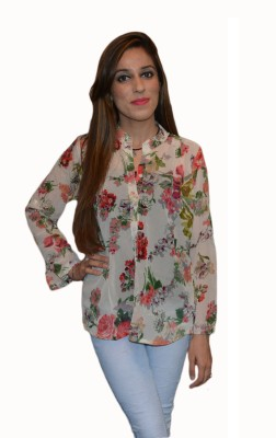 Vedic Deals Casual Full Sleeve Floral Print Women's Multicolor Top