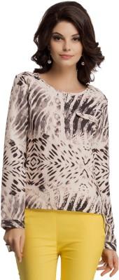 Clovia Casual Full Sleeve Printed Women's Orange Top