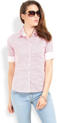 Max Casual 3/4 Sleeve Printed Women's Pink Top