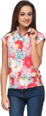 Vemero Clothings Casual Cap sleeve Floral Print Women's Multicolor Top