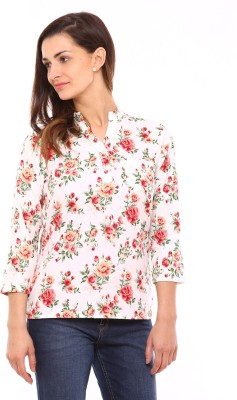 Vvoguish Women,s Floral Print Casual Multicolor Shirt