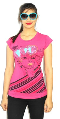 99DailyDeals Casual Short Sleeve Printed Women's Pink Top