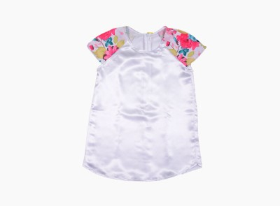 Buttercups Casual Sleeveless Solid Girls White Top