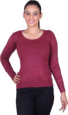 Deutz Casual Full Sleeve Solid Women's Purple Top