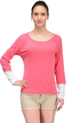 Trend18 Casual Full Sleeve Solid Women's Pink Top
