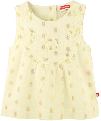 Fisher-Price Casual Sleeveless Applique Girl's Yellow Top
