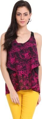 Ridress Casual Sleeveless Animal Print Women's Multicolor Top