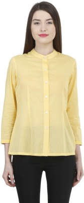 Uptowngaleria Formal 3/4 Sleeve Solid Women's Yellow Top