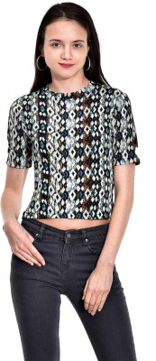 I Know Casual Short Sleeve Printed Women,s Green Top