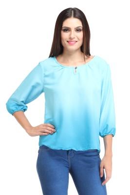 Amirich Casual 3/4 Sleeve Self Design Women's Multicolor Top