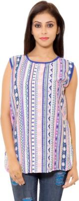 Eleganceranuka Party Sleeveless Striped Women's Multicolor Top