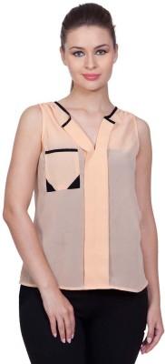 Stylestone Casual, Formal, Lounge Wear, Beach Wear, Party Sleeveless Solid Women's Pink Top