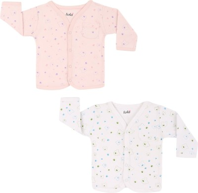 Lula Casual Full Sleeve Printed Baby Girl's Multicolor Top