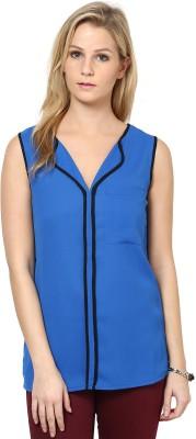 The Vanca Casual Sleeveless Solid Women's Dark Blue, Black Top at flipkart