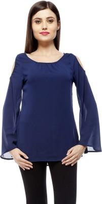 Stylestone Casual, Formal, Lounge Wear, Beach Wear, Party Full Sleeve Solid Women's Blue Top
