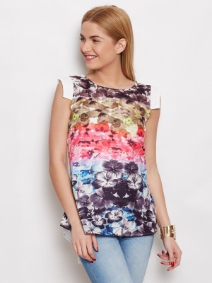 Young Threads Casual Short Sleeve Graphic Print Women's Pink Top