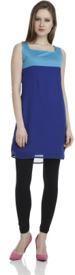 James Scot Formal, Party, Lounge Wear Sleeveless Solid Women's Blue Top