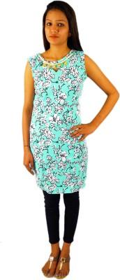 Omysha Casual Sleeveless Floral Print Women's Green Top