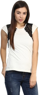 Rare Casual Cape Sleeve Solid Women,s White Top