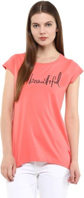 Fritzberg Casual Short Sleeve Printed Women's Pink Top