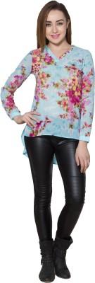 Eva De Moda Casual 3/4 Sleeve Printed Women's Multicolor Top