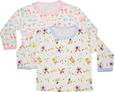 Myfaa Casual Full Sleeve Printed Baby Girl's Multicolor Top