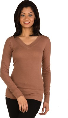 Modo Vivendi Casual Full Sleeve Solid Women's Brown Top
