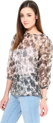 TheGudLook Casual 3/4 Sleeve Animal Print Women's Multicolor Top