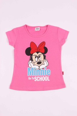 Disney Casual Short Sleeve Graphic Print Girl's Pink Top