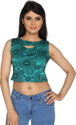 Nuts Clothing Party Sleeveless Self Design Women,s Multicolor Top