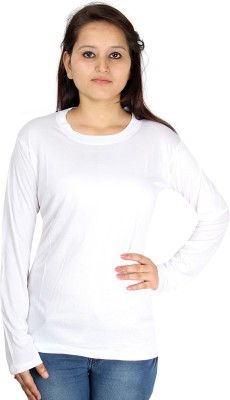 Shahfali Casual Full Sleeve Solid Women's White Top
