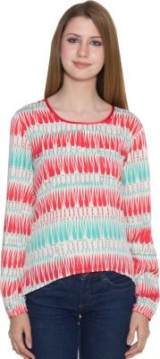 Eva De Moda Casual Full Sleeve Chevron Women's Multicolor Top