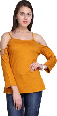 Sierra Casual Full Sleeve Solid Women's Yellow Top