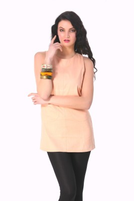 Rediscover Fashion Casual Sleeveless Solid Women's Pink Top