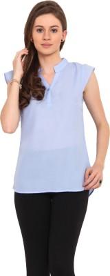Sweet Lemon Casual Short Sleeve Solid Women's Light Blue Top