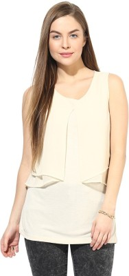 Latin Quarters Casual Sleeveless Solid Women,s White Top