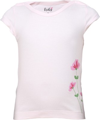 Lula Casual Short Sleeve Floral Print Baby Girl's Pink Top