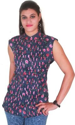 Selfi Casual Short Sleeve Printed Women's Multicolor Top