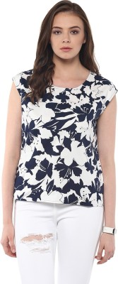 Harpa Casual Sleeveless Floral Print Women's White Top