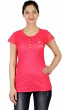 ASH Party Short Sleeve Solid Women's Red...