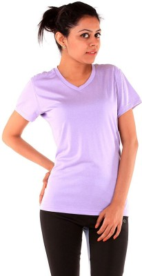 Sjoe Sports Cape Sleeve Solid Women's Purple Top