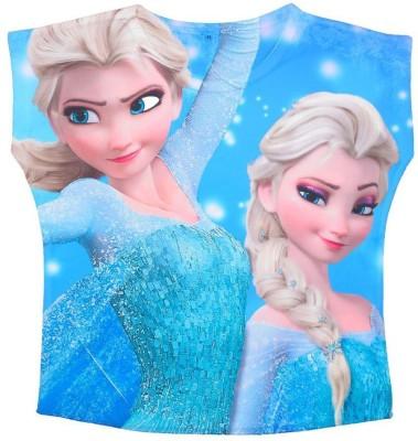 Shopaholic Fashion Casual Short Sleeve Printed Girl's Multicolor Top