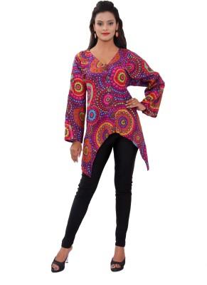 Uttam Enterprises Casual Full Sleeve Printed Women's Black Top